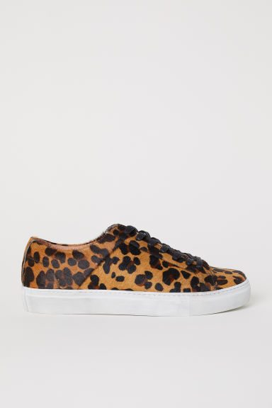 Patterned trainers - Light brown/Leopard pattern - Men | H&M CN