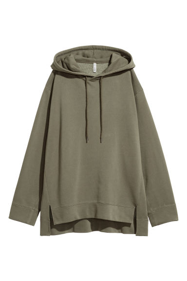 Oversized hooded top - Khaki green -  | H&M IE