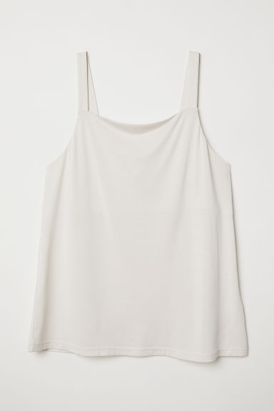 Modal-blend strappy top - Light beige - Ladies | H&M CN