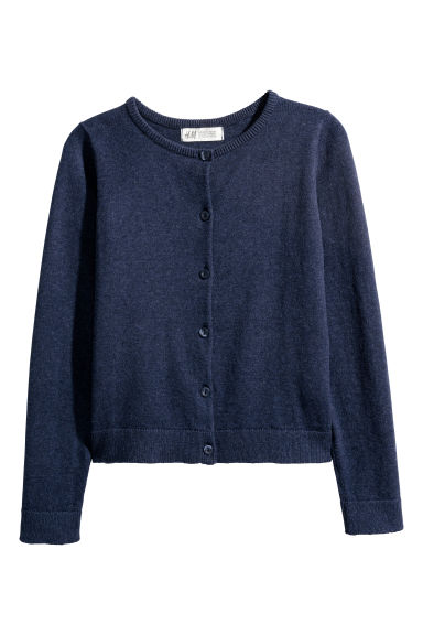 Fine-knit cardigan - Dark blue - Kids | H&M CN