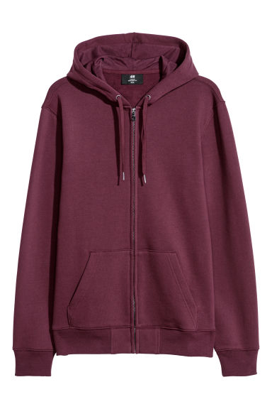 Hooded jacket Regular fit - Burgundy -  | H&M CN