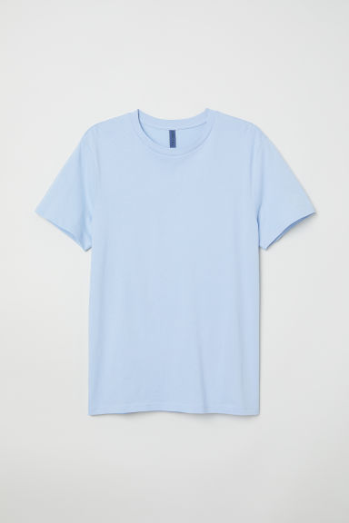 Round-necked T-shirt - Light blue -  | H&M