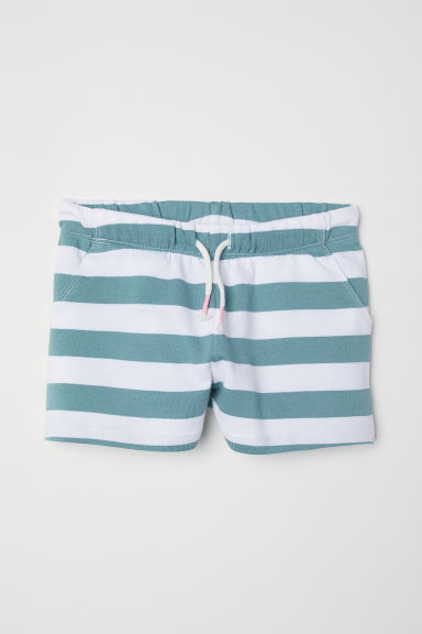 Jersey shorts - White/Striped - Kids | H&M