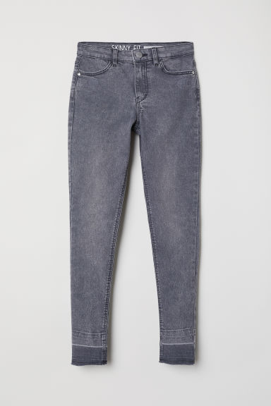Pantaloni in twill Skinny Fit - Grigio scuro washed out - BAMBINO | H&M IT