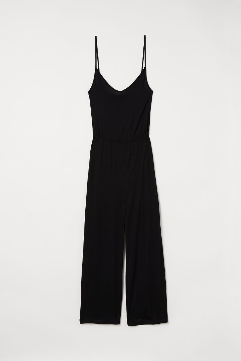 Jumpsuit i trikot - Sort - DAME | H&M NO