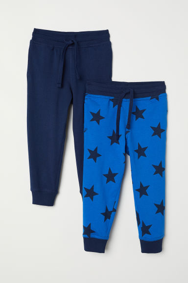 2-pack joggers - Dark blue/Stars - Kids | H&M