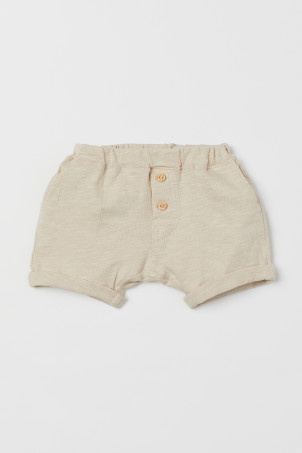 Shorts in jersey flamméModal