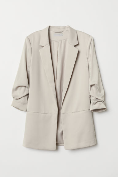 Jacket with gathered sleeves - Light mole - Ladies | H&M