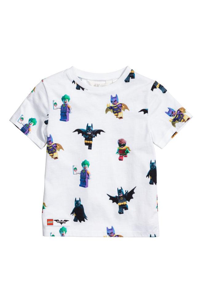 Nyomott mintás póló - Fehér Lego - GYEREK  7fc4017f91