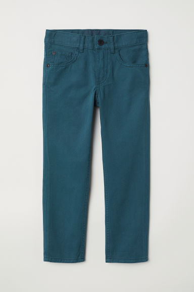 Pantaloni in twill - Turchese scuro - BAMBINO | H&M IT