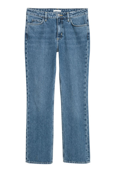 Slim Regular Jeans - デニムブルー - Ladies | H&M JP