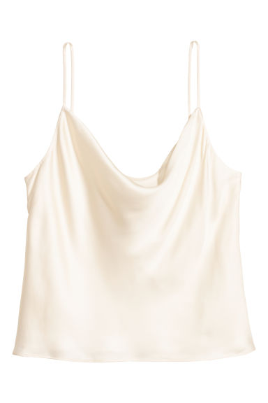 Sleeveless top - White -  | H&M