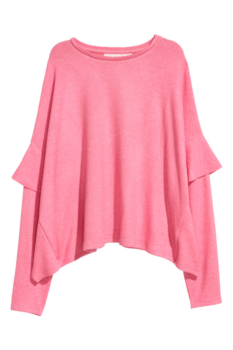 Fine-knit jumper - Pink marl - Ladies | H&M