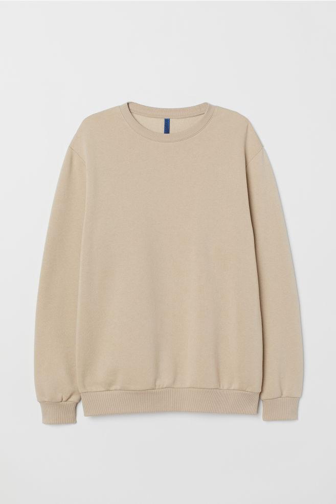 ea11956bdaa39e Sweatshirt - Beige - Men | H&M ...