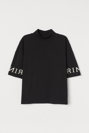 T-Shirt mit Turtleneck