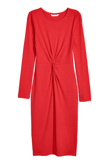 Knot-detail dress - Red - Ladies | H&M GB