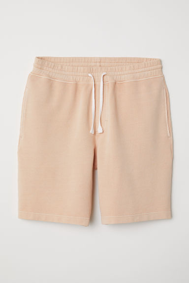 Sweatshort - Abrikoos - HEREN | H&M BE
