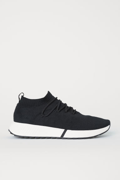 In vorm gestikte sneakers - Zwart -  | H&M BE