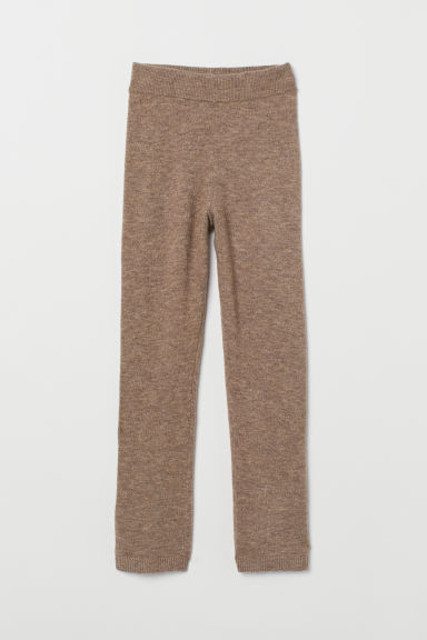 Fine-knit trousers - Beige marl - Ladies | H&M
