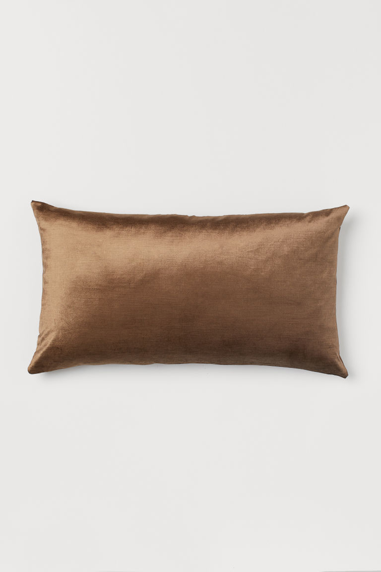 Velvet Pillowcase - Dark beige - Home All | H&M CA
