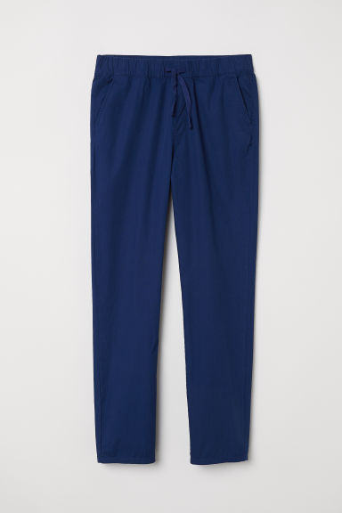 Cotton pull-on trousers - Dark blue -  | H&M