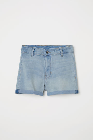 Twill shorts High Waist - Light blue -  | H&M