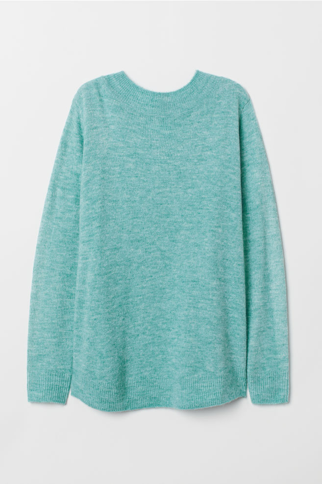 185266d5eca09 MAMA Knitted jumper - Turquoise marl - Ladies | H&M ...