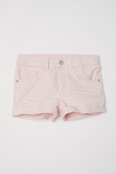 Generous Fit Twill shorts - Light pink - Kids | H&M CN