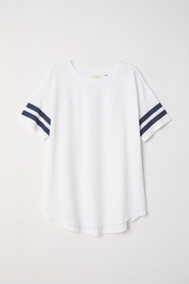 Short-sleeved top - White -  | H&M CN