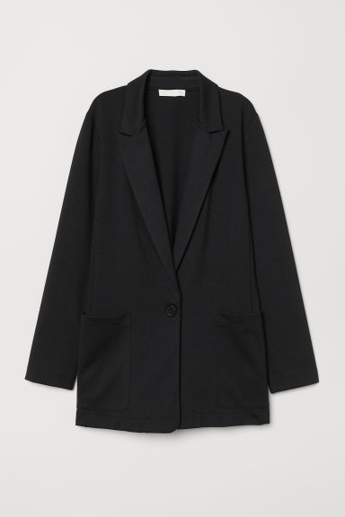 Jersey Jacket - Black - Ladies | H&M US