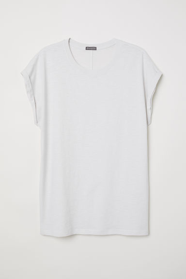 T-shirt met kapmouwen - Roomwit - HEREN | H&M BE