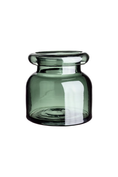 Small glass vase - Dark green - Home All | H&M CN