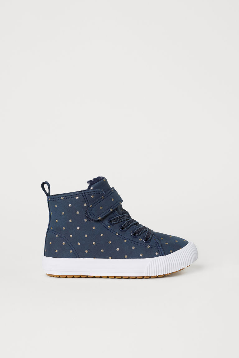 Pile-lined hi-tops - Dark blue - Kids | H&M