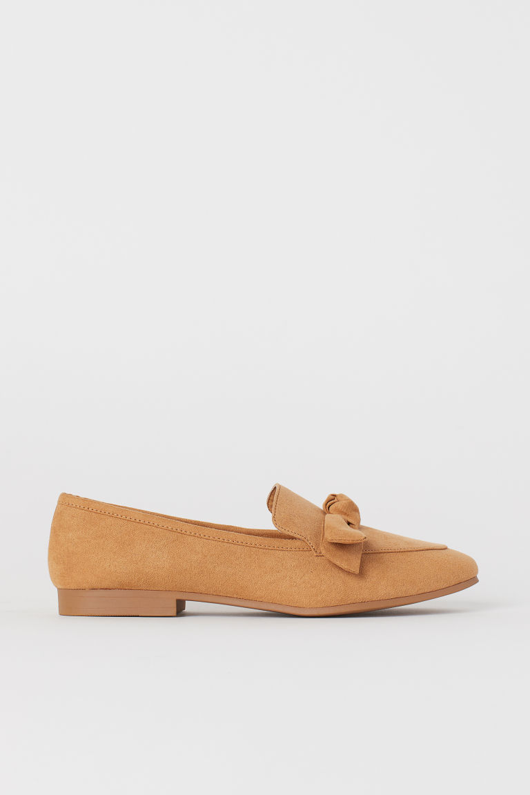 Loafers with a bow - Beige - Ladies | H&M