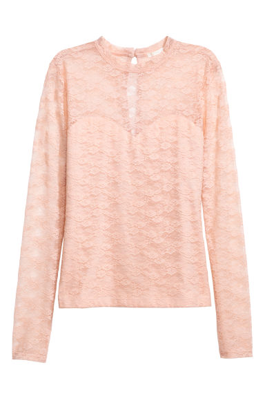Lace top - Powder pink - Ladies | H&M