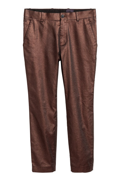 Pantaloni coating metallizzato - Ramato - UOMO | H&M IT
