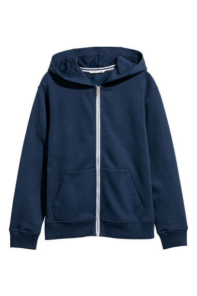 Hooded Jacket - Dark blue -  | H&M CN