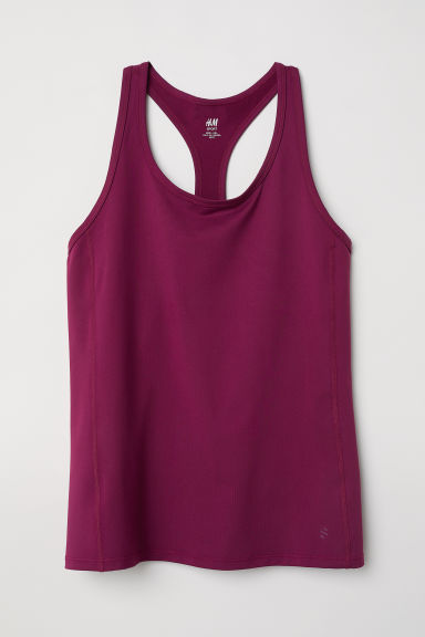 H&M+ Sports vest top - Burgundy - Ladies | H&M