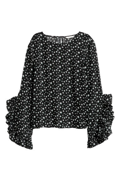 Blouse - Black/Patterned - Ladies | H&M IE