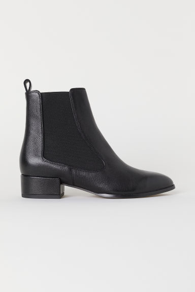 Leather ankle boots - Black - Ladies | H&M