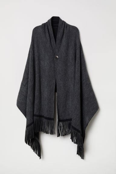 Poncho reversibile - Grigio scuro/nero - DONNA | H&M IT