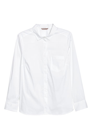 H&M+ Shirt - White - Ladies | H&M