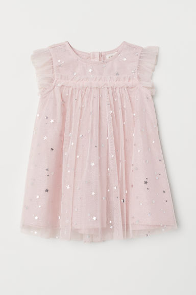 Tulle dress - Pink/Stars - Kids | H&M