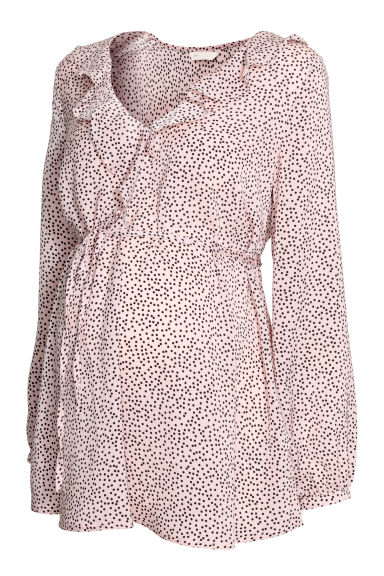 MAMA Blouse - Powder pink/Spotted -  | H&M
