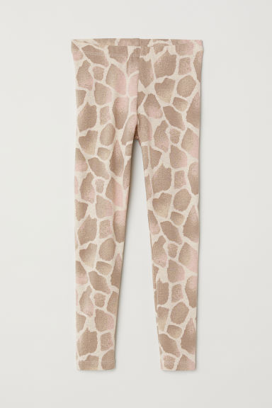 Leggings in jersey - Beige/ motivo a giraffe - BAMBINO | H&M IT