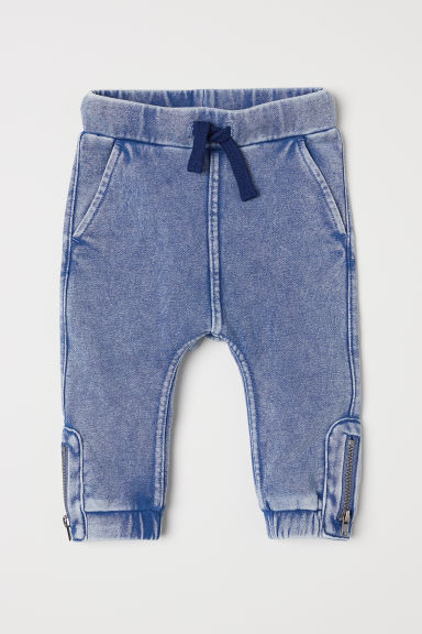 Joggers met denimlook - Blauw washed out - KINDEREN | H&M BE