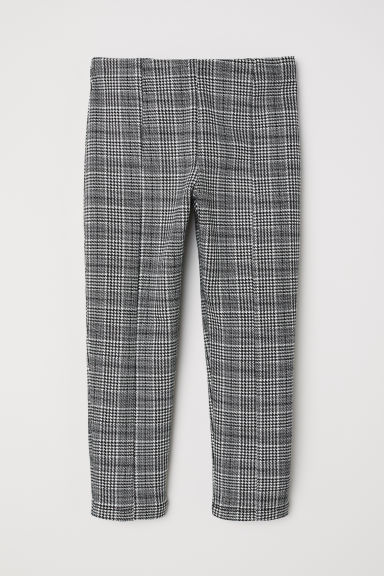 Jersey trousers - White/Dogtooth - Kids | H&M CN