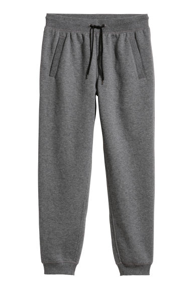 Sweatpants Regular fit - Grey marl - Men | H&M