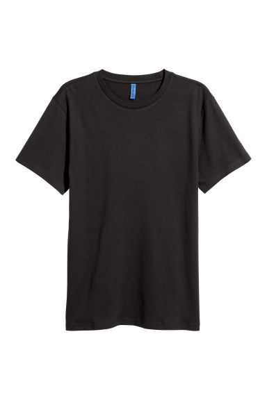 Round-necked T-shirt - Black -  | H&M