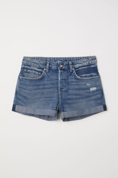 Denim shorts Boyfriend - Denim blue -  | H&M